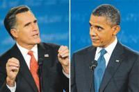 66 10/4/12 Mitt Romney, left, and President Barack Obama. (John Leyba (left photo); Craig F. Walker (right photo), The Denver Post)