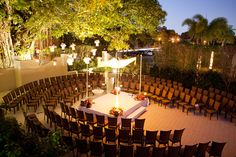 Ceremony in the Round - Coral Gables Country Club - @KT Merry