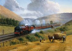 This image caught of a beautiful old stream train, The Royal Scot from 1935 in such a picturesque location makes for a wonderful and interesting puzzle to complete. Wooden Jigsaw Puzzles, Train Art, Railway Posters, Steam Locomotive, Painting Edges, Models, Stretched Canvas Prints, Model Trains, Around The Worlds