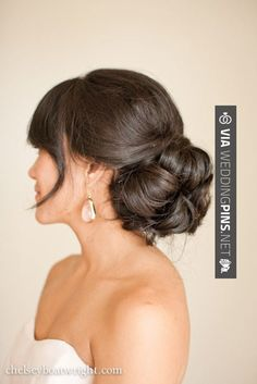 So neat! - Side Bun Wedding Hair Beautiful, beautiful hairstyle | CHECK OUT THESE OTHER GREAT PICTURES OF TASTY Side Bun Wedding Hair HERE AT WEDDINGPINS.NET | #sidebunweddinghair #naturalhair #weddinghairstyles #weddinghair #hair #stylesforlonghair #hairstyles #hair #boda #weddings #weddinginvitations #vows #tradition #nontraditional #events #forweddings #iloveweddings #romance #beauty #planners #fashion #weddingphotos #weddingpictures