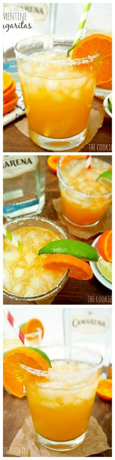 Fresh Squeezed Clementine Margaritas!! Delicious and low calorie! Sweetened with agave nectar.  YUM!! hello spring! {The Cookie Rookie}