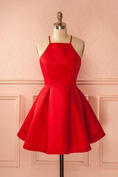 Red Prom Dress,Halter Prom Dress,Fashion Homecoming Dress,Sexy Party Dress,100