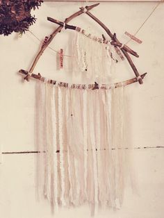 Driftwood Triangle Dreamcatcher - Boho Wall Hanging Decor - Laces Dreamcatcher - Gypsy Bedroom Decor - Bohemian Nursery - Branches Decor by iCatchUrDream on Etsy https://www.etsy.com/listing/400952741/driftwood-triangle-dreamcatcher-boho