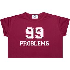 99 Problems Crop Top T Shirt Tee Womens Girl Funny Fun Tumblr Hipster... ($14) ❤ liked on Polyvore featuring tops, t-shirts, black, sweater vests, sweaters, women's clothing, black top, black crop top, crop tee and black sweater vest