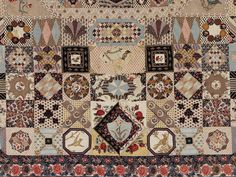 Patchwork quilt detail,  English, 1797