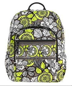 01f0c8ec73 Vera Bradley CAMPUS BACKPACK Large Back Pack Bag ~ CITRON ~ New NWT   VeraBradley