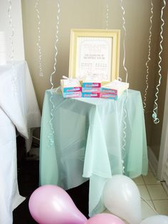 Pin for Later: This Ice Cream Parlor Birthday Will Melt Your Heart 3rd Birthday Party For Girls, Birthday Bash, Birthday Celebration, Love Ice Cream, Ice Cream Parlor, Mint Cake, Sundae Bar, Metallic Balloons, Cute Cupcakes