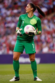 Hope Solo - the best female goalkeeper in the world. P.s. I want that kind of clothes too!