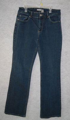 Chicos Platinum Womens Denim Jeans Pants Size 1 Regular W 31 L 31.5 #ChicosPlatinum #BootCut