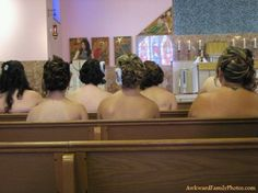 Another good reason to not have your bridesmaids wear strapless dresses. Hahahahahaa - Click image to find more Humor Pinterest pins