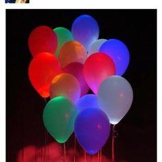 Glow stick-neon balloons