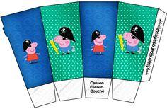 Caixa Pipoca George Pig Pirata: