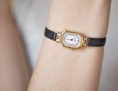 Posh women's watch gold plated wrist watch Ray by SovietEra, $72.00