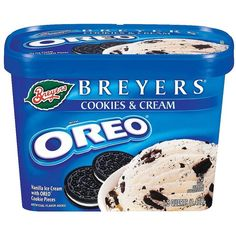 Breyers Oreo Cookie Ice Cream 48oz ($3.89) ❤ liked on Polyvore featuring food, food and drink, food & drinks, fillers and comida