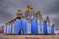Blue monastery Ukraine