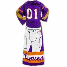 Clemson Tigers Comfy Fleece Throw - Football Player #clemson #cu #solidorange #clemsontigers