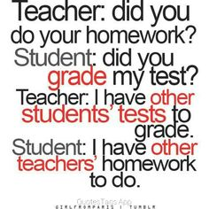 I need to say this to at least one teacher before I leave! New goal for this year...:)
