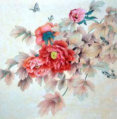 peonie paintings | Peony,50cm x 50cm(19〃 x 19〃),2416016-z