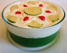 Applesauce Jello Salad - chopped cherries and pistachio nut pieces sprinkled on top Jello Desserts, Potluck Desserts, Jello Recipes, Delicious Desserts, Jello Salads, Fruit Salads, Congealed Salad, Fruit Dishes, Yummy Eats