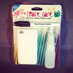 Invented by a Michigan teen. EraseCase- design your covers for your phones, then erase and start over