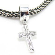 """Pro Jewelry .925 Sterling Silver Dangling """"CZ Cross"""" Charm Bead for Snake Chain Charm Bracelet EBD 196 NZC 15 S Pro Jewelry http://www.amazon.com/dp/B00IKSOIZC/ref=cm_sw_r_pi_dp_m648ub0JNFXKX"""