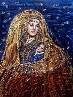 La regina del cielo tecnica olio su tela 60x80cm