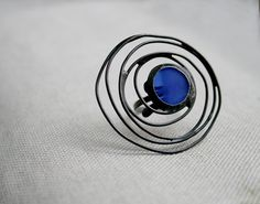Blue galaxy ring statement jewelry adjustable ring by ArtKvarta, $30.00