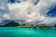 Polinezja Francuska, Bora-Bora, Morze, Domki