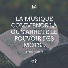 """ La musique commence là ou s'arrête le pouvoir des mots "" #bienchanter si vous souhaitez des cours de chant gratuits en ligne rejoignez-nous : www.bienchanter.fr Iron Maiden, Piano, Poems, Inspirational Quotes, Messages, Feelings, Sayings, Conscience, Scrap"