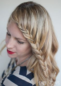 Lace braid (half french braid) hairstyle tutorial