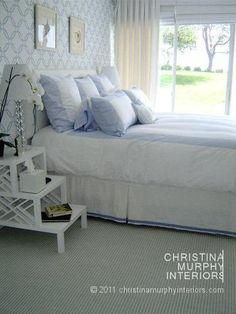 Christina Murphy - Williams Sonoma Home linens (I have the very same ones on my bed!)
