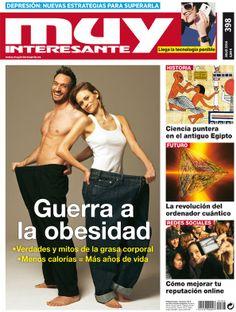 """Aquí tenéis la portada de la revista de Julio de 2014, número 398 de Muy Interesante con el tema principal """"Guerra a la Obesidad""""."""