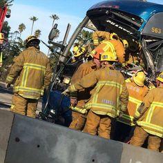 #losangeles #405freeway #accident #bus