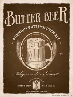 vintage style butterbeer poster! #harrypotter via @Annie Compean Pilon