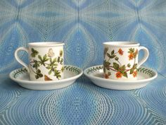 Portmeirion Espresso Cups And Saucers in by PurelyPortmeirion, £24.00