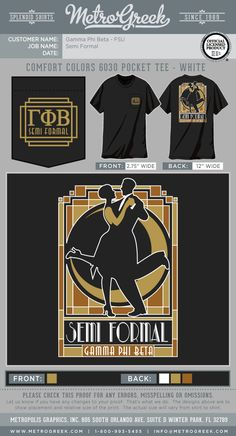 A great collection of Formal T-shirts for your Greek organization. Browse the collection for the perfect T-shirt for your Fraternity or Sorority. Phi Mu Shirts, Fraternity Shirts, Sorority And Fraternity, Sorority Shirts, Alpha Omicron Pi, Gamma Phi Beta, Roaring Twenties, The Twenties, Sorority Formal