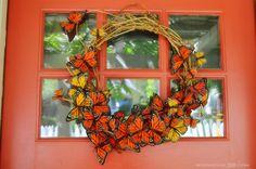 butterfly wreaths   Butterfly Wreath - stunning!   Wreaths