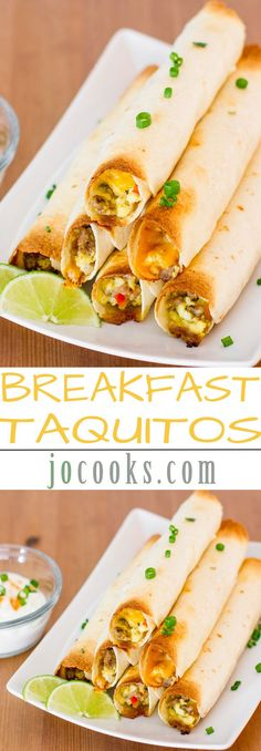 Baked Breakfast Taquitos