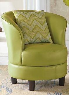 The Rebecca Leather Swivel Chair is a stylish piece that shines even in small spaces with it's swivel design and supple surface available in a wide array of colors to match any decor.