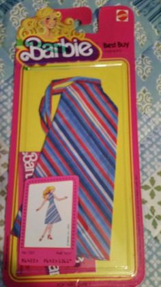 1978 Barbie Best Buy fashions dress With Multicolor stripes.  #1361 NEW