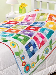 Quilt from Scrap Happy Quilting from Annie's. Order here: http://www.anniescatalog.com/detail.html?prod_id=101080_id=1422