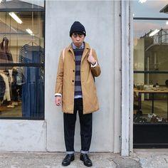 いいね!78件、コメント1件 ― Masahiro Nishikawaさん(@masahiro0129)のInstagramアカウント: 「. 平方サクラコートを着て! 普段は細身のボトムスが多いけど太めを履いて! サクラコート残り僅かですがおすすめです♪ . coat #eel cutsew #nisica shirts…」