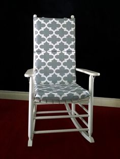 Rocking Chair Cushion Cover, Grey Fynn By RockinCushions On Etsy. Easily  Transition From Nursery