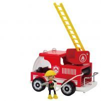 When danger arises, keep your wooden doll family safe with this super speedy fire truck Includes two pieces: the big red fire truck and a fireman Encourages imaginative role play and storytelling Toys For Tots, Kids Toys, Toy Trucks, Fire Trucks, Hape Toys, Wooden Playset, Wooden Cat, Educational Toys For Kids, Wooden Dolls