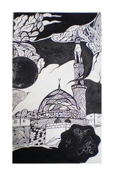Mkk oldbuilding Penwork - B&W Waves, Artwork, Work Of Art, Auguste Rodin Artwork, Artworks, Ocean Waves, Illustrators, Beach Waves, Wave
