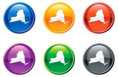 new york state button button royalty free vector art vector art illustration