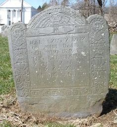John Dane, Sr, My 8X Great Grandfather.  Died at 65 years of age, Dec 23, 1707.  This was the ancestor who was a juror in the Salem Witch Trials.  For Tombstone Tuesday