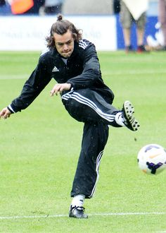 He looks so funny when he plays Football! Lol