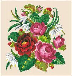 victorian stitch work | Patterns 3 - Victorian Cross Stitch and Berlin Wool Work Patterns More