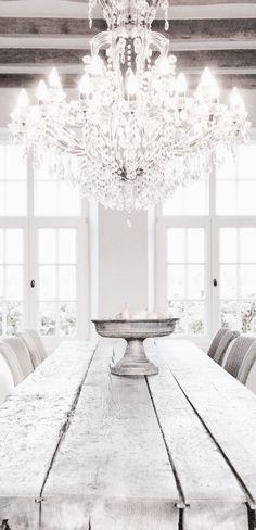a rustic meets romantic dining room....